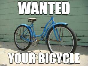 wanted: your spare or unused bicycle