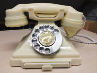 BAKELITE TELEPHONE WANTED - IVORY, RED OR GREEN (NOT BLACK)