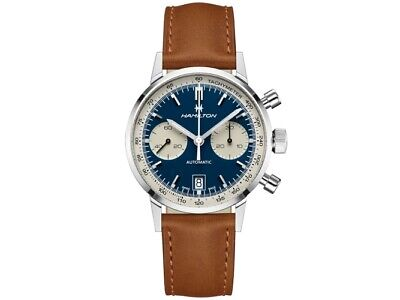 NEW HAMILTON INTRA-MATIC 68 AUTOMATIC CHRONOGRAPH BLUE DIAL H38416541 40MM
