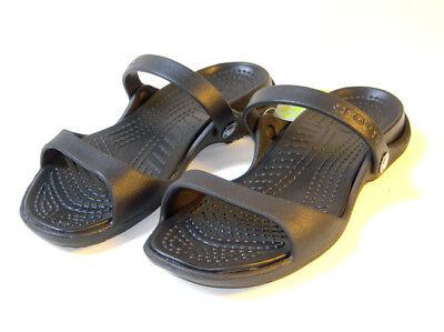 CLOSEOUT Crocs Cleo Black Black US Women's Size 6 7