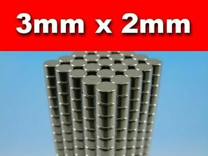 500-x-Disc-Rare-Earth-Neodymium-Magnets-N50-3mm-x-2mm