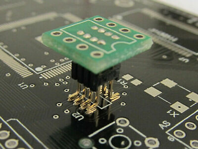 1pcs Dip8 To Sop8 Adapter Soic8 Socket Pcb 1.27mm Converter 300mil
