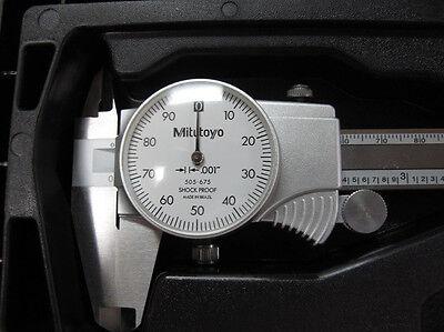 New Mitutoyo 12 Dial Caliper 505-746
