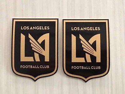 7b040e7b9 2x Los Angeles FC LAFC Car Window Bumper Laptop Vinyl Stickers Decals