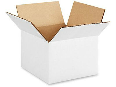 5 X 5 X 5 White Corrugated Boxes Lot Of 1100 Boxes - Free Shipping