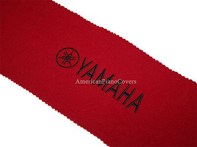 Yamaha Piano Key Cover - Red Felt with Black Embroidery Keyb
