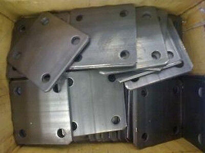 Lot Of 4 Steel Base Plates 4x4x18 38holes 11.3002