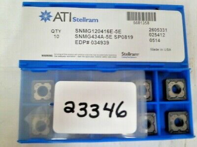 10 Pc. Kennametal Stellram Snmg434a-5e Sp0819 Inserts New Pic23346