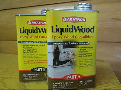 Abatron Liquidwood Epoxy Wood Consolidant 2 Pint Kit Part A Part B