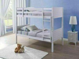 ⭐🌈HUGE 50% OFF WOODEN BUNK BED SPLIT INTO 2 SINGLES WHITE HARD WOOD BUNKBED