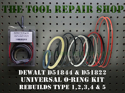 Tool Repair Kit for DeWALT D51844 Framing Nailer Universal O-Ring Kit