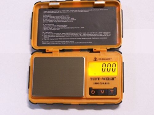 New TUFF WEIGH 100g x 0.01g Rugged Tough Digital Scale Free shipping