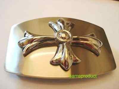 Famous Silver Color 3D Iron Cross Belt Buckle   3d Iron Cross