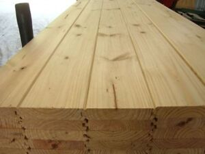 Spruce or pine tongue and groove 2X6 flooring T&G