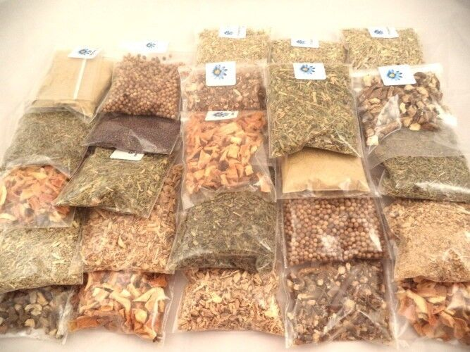 Herbal Tea 20 - 1 Oz Herb Kit kitchen, brew, cooking, seasoning, culinary (B)