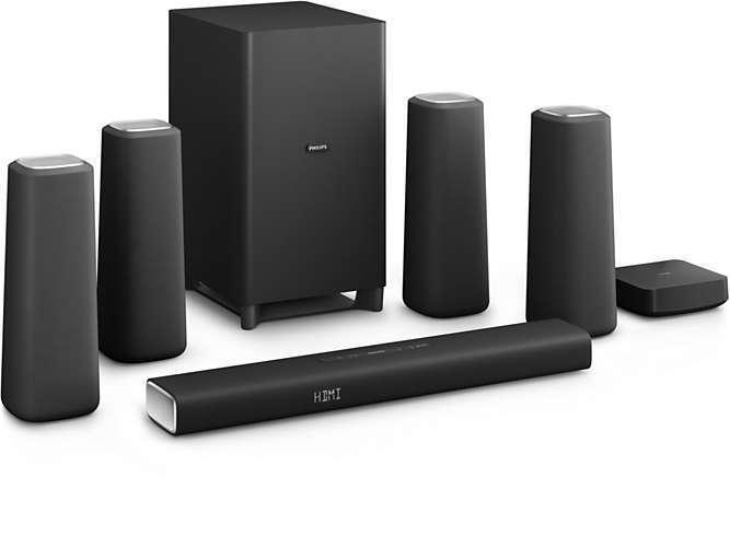 Philips CSS5530B 37 Zenit Cinema Speakers Black