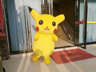 Pikachu Mascot Costume (Adult Mascot Pikachu Costume Unisex Costumes Party)