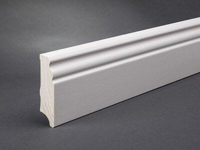 Fußleiste Sockelleiste Massivholz 20x80 mm Bremer/Hamburger Profil weiß lackiert