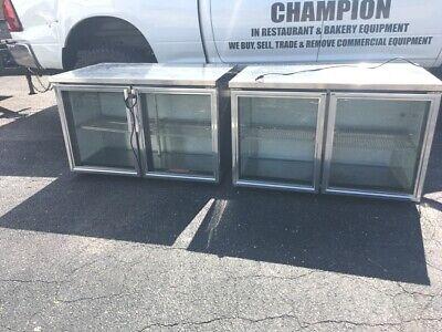 Cooler True Bar 2 Swing Glass Doors Back Bar Refrigeration