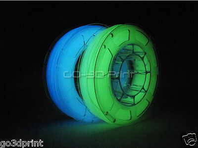 Glow in the Dark PLA 3D Printing Filament Mini Value Pack 1.75mm 2x 225g