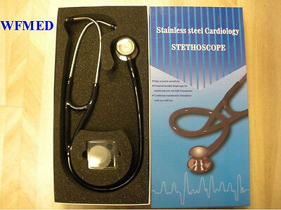 Cardiology Stethoscope Wpatent Adult Pediatric Black New In Box