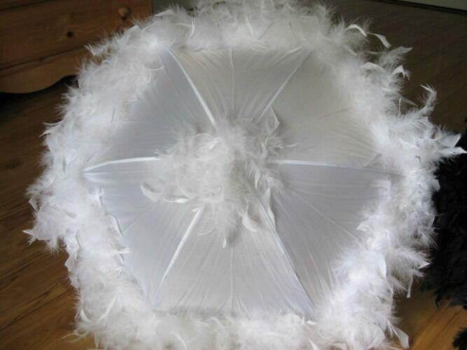 ONE Second Line Wedding Umbrellas New Orleans Feather Parasols Mardi Gras