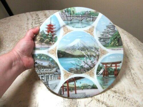 Noritake souvenir plate from Japan. Japanese scenes. Mt Fuji...