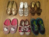 6 pair of shoes UK size 1