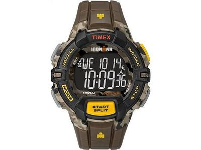 Timex Ironman Men's Brown Resin Black Display Indiglo Camo Watch TW5M02100 NEW