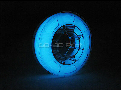 Mini Glow in the Dark Blue PLA Color Changing 3D Printing Filament 1.75mm 225g