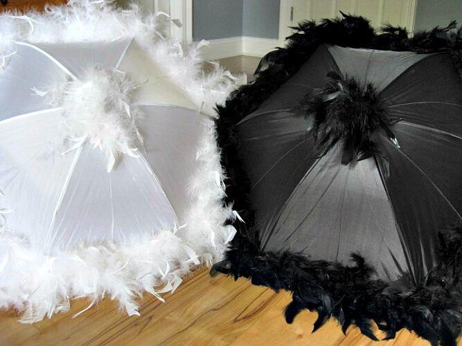 Second Line Wedding Umbrellas New Orleans Authentic Feather Parasols Mardi Gras