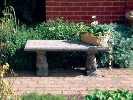 Small concrete bench