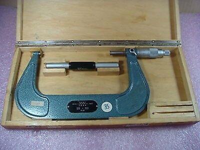 Tesa Vintage Classic 125-150mm Metric Micrometer W Box Standard Swiss Made