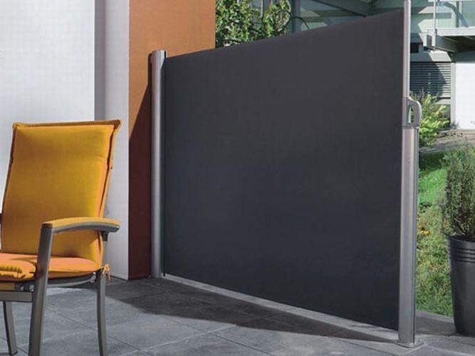 Perel Seitenmarkise ausziehbar 160 x 300 cm Sichtschutz Sonnenschutz Garten NEU