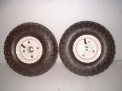 Pair Of 10 Hand Truck Cart Or Cooler Replacement Pneumatic Tires
