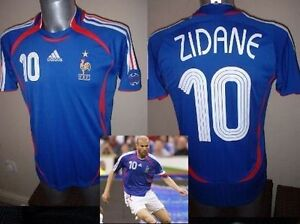 France Adidas Adult XL Zidane Football Soccer Shirt Jersey 06 Vintage Madrid Top