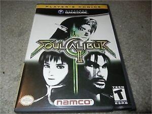 SOUL CALIBUR II 2 NINTENDO GAMECUBE GAME W/ CASE PLAYER'S CHOICE