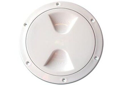 "NAUTOS 13.85 - PLASTIC DECK PLATE - INSIDE DIAMETER 6"" - UV RESISTANT"