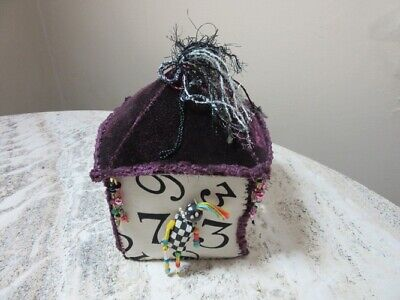 Patricia Stetzer OOAK beaded, mixed media, textile whimsical box