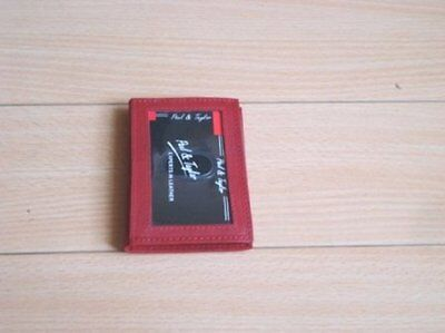 New Leather Credit Card & Business Card  Holder Wallet (Red Color)