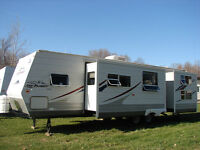 2007 Jayco JayFlight 34' Bunkhouse, 2 Slide-outs, Sleeps 8