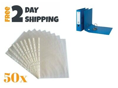 Office Sheet Protectors For Binders Photos Document Paper Clear Poly 50 Sleeves