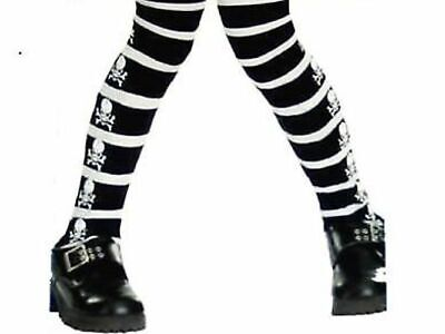Girl Pairs For Halloween (Halloween Drama Queen Two Pairs Tights Girl Size L For Age 4 And)