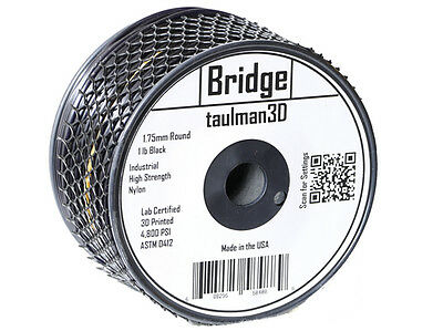 Taulman Nylon Bridge 3D Printing Filament - Black 1.75mm