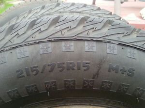 2 Winter Tires 215/75R15 M/S