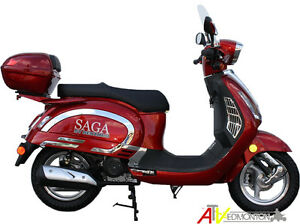 New SAGA Quest 49cc Gas Scooter/Moped on Fall SUPER SALE Now!