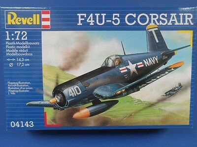 Revell 04143GS F4U-5 Corsair Aircraft Plastic Kit Gift Set 1/72 Scale T48 Post
