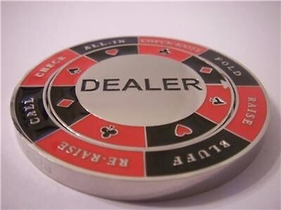 - Dealer Button Spinner Decision Maker Card Guard Poker Hand Protector Metal NEW
