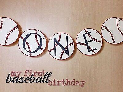Baseball Birthday Banner | Baseball Highchair Banner