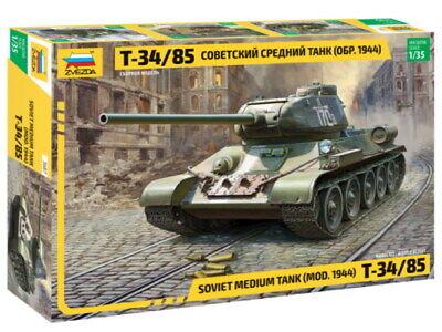 Zvezda 3687 Panzer Battle Tank T-34/85 Soviet Model Bausatz 1:35
